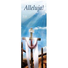 """Baner na Wielkanoc """"Alleluja!"""" - błękitny (12)"""