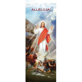 """Baner na Wielkanoc """"Alleluja!"""" - błękitny (13)"""