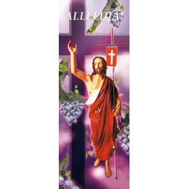 "Baner na Wielkanoc ""Alleluja!"" - fioletowy (14)"