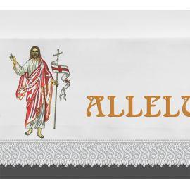 Obrus ołtarzowy wielkanocny  - Alleluja + Chrystus (4)