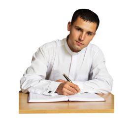 Koszula kapłańska-  spinki - 100% bawełny, (38-46)