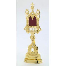 Relikwiarz złoty bądź srebrny - 28 cm.