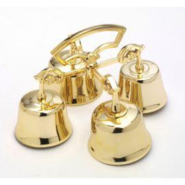 Dzwonki ołtarzowe mosiężne 4 tonowe - 14x21 cm