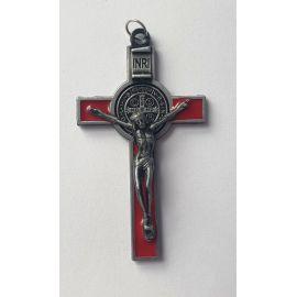 Krzyż św. Benedykta - czerwony