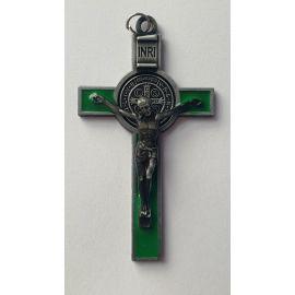 Krzyż św. Benedykta - zielony