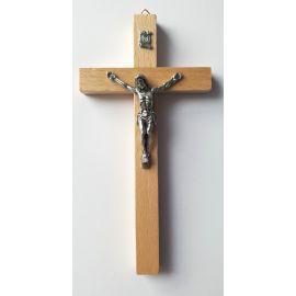 Krzyż drewniany - jasny 16x8 cm