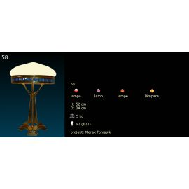Secesyjna lampa stojąca  (2)