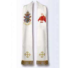 Stuła z wizerunkiem Świętego Jana Pawła II (B)