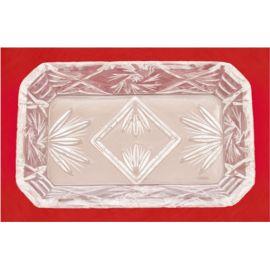 Taca szklana/ kryształ  15x9,5 cm.