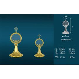 Kustodium złocone + melchizedek - 2 wielkości