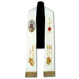 Stuła z malowaną ikoną Św. Florian (23)