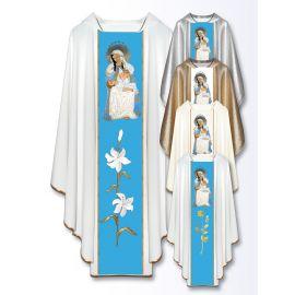 Ornat z haftowanym wizerunkiem - Matka Boża z Portoryko