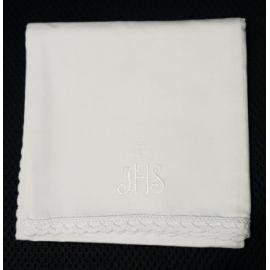 Korporał biały IHS z krzyżykiem - 100 % bawełna
