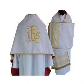 Welon liturgiczny IHS haftowany (12)