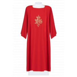 Dalmatyka haftowana IHS - czerwona