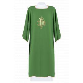 Dalmatyka haftowana IHS - zielona