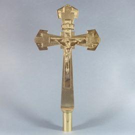 Krzyż procesyjny mosiężny wys .55 cm