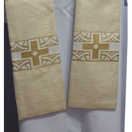 Stuła kapłańska ecru/złota nr 13