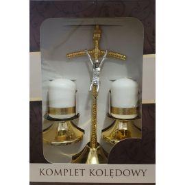 Komplet  kolędowy/papieski złoty (4)
