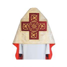 Welon liturgiczny - wzór złoty IHS (30)