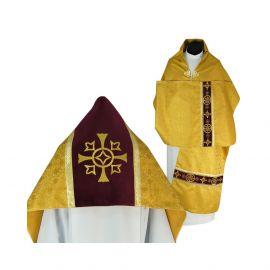 Welon liturgiczny aksamit - złoty krzyż (32)