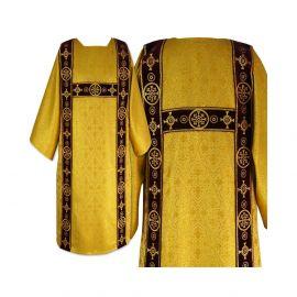 Tunika dla diakona haftowana złota- aksamitne pasy