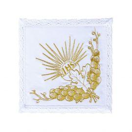 Bielizna kielichowa kielich IHS - złoty haft