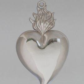 Wotum srebrne serce - wys. 20 cm.