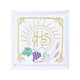 Bielizna kielichowa - IHS kolorowy haft
