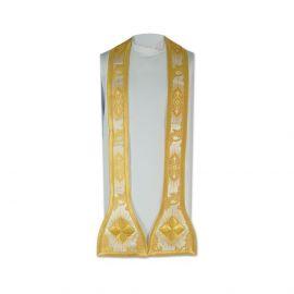 Stuła kapłańska złote krzyże