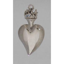 Wotum srebrne serce - wys. 11 cm.