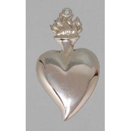 Wotum srebrne serce - wys. 9 cm.