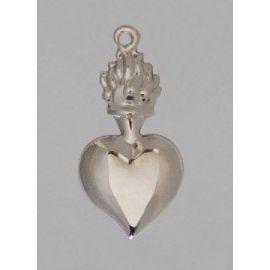 Wotum srebrne serce - wys. 6 cm.