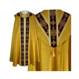 Kapa złota Semi-Gotycka - aksamitne pasy (5)