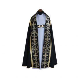 Kapa czarna rzymska - tkanina żakard (10)