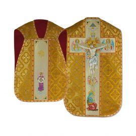 Ornat rzymski haftowany - Chrystus na krzyżu (22)