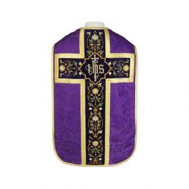 Ornat rzymski IHS - kolory liturgiczne, żakard (33)