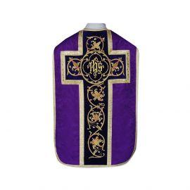 Ornat rzymski IHS - kolory liturgiczne, żakard (34)