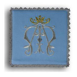 Palka haftowana niebieska - symbol Maryjny