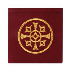 Palka haftowana aksamit, czerwona - haft ozdobny