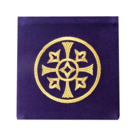 Palka haftowana aksamit, fioletowa - haft ozdobny