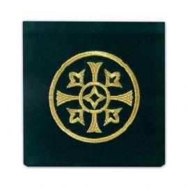 Palka haftowana aksamit, zielona - haft ozdobny