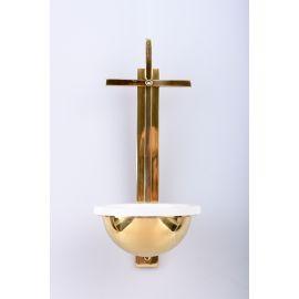 Kropielnica mosiężna krzyż - 31 cm