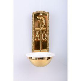 Kropielnica mosiężna Alfa i Omega - 25 cm