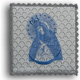 Palka haftowana srebrna - MB Ostrobramska