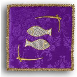 Palka haftowana fioletowa - Ryby