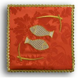 Palka haftowana czerwona - Ryby