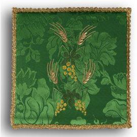 Palka haftowana zielona - winogrono + kłosy