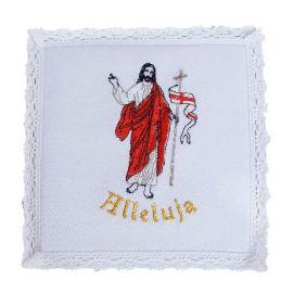 Palka bawełniana biała - Chrystus Zmartwychwstały - Alleluja