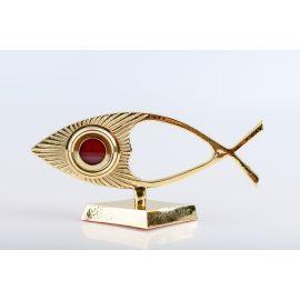 Relikwiarz pozłacany Ryba - 22 cm (22)